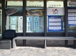 버스승강장 탄소발열의자 확대 운영...시민 호응커